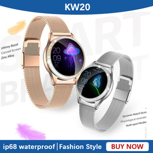 KW20 Smartwatch IP68 Watwatch Watch Smart Watch pour femme Bracelet Rendeur cardiaque pour iOS Android Fashion Femme Femme Bande vs KW10