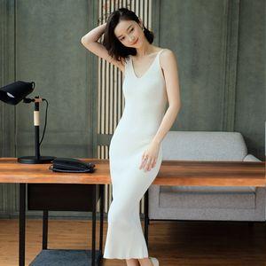 wj87v QSTDn 2019 New dress Korean Base dress sleeveless knitted base women's Korean mobile phone autumn high frequency line wedding