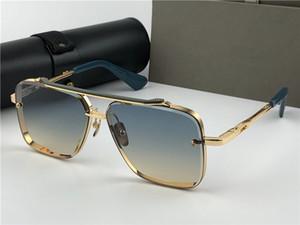 2020 Nouvelle marque de mode lunettes de soleil hommes style de mode de luxe design vintage métal lentille carrés frameles avec étui Livraison gratuite