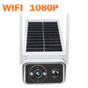 Solar Powered WiFi Camera HD 1080P Outdoor Wireless Security Camera Rechargeable Battery IP Surveillance PIR Alarm