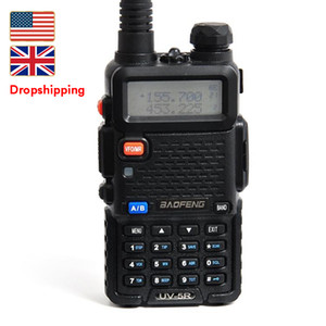 Estoque em US UK Baofeng UV-5R Walkie Talkie Dropshipping portátil analógica Two Way Radio Handheld UHF / VHF Amateur Long Range Transceiver