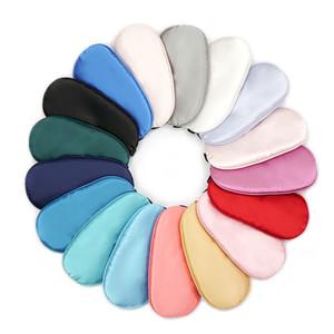 Nueva seda pura sueño Eye Mask Shade acolchada cubierta para transporte Relax Ayuda Venda de ojos de 17 colores calientes