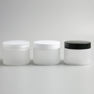 30x150g 200g Boş Buzlu Pet Kozmetik Kavanoz Pot Teneke Plastik Kapaklı Mühür Balsam Krem Losyon Saklama Kabı 5oz 150 / 200ml