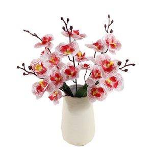 Моделирование Phalaenopsis Букет Шелк Цветы для украшения дома Поддельные цветы бабочки Orchid Wedding Scene Композиция Букет