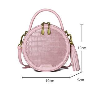 2020 Nouveau femmes Petit sac sacs circulaires coréens d'été de la mode sauvage Crocodile Buns épaule Messenger Sacs à main Sacs mignon Shelala