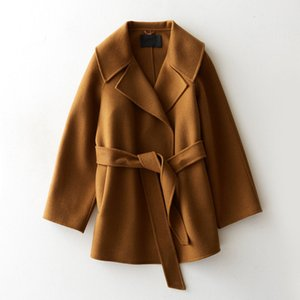 YOLANFAIRY Double Sided Wool Coat Women 100% Real Wool Jackets Top Quality Slim Overcoat casaco de inverno feminino 2020 MF647