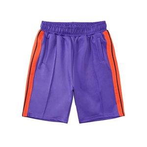 20ss homens das mulheres designer de calças curtas roupas carta impressão tira do arco-íris correias de cinco pontos ocasional Praia Shorts ES7823
