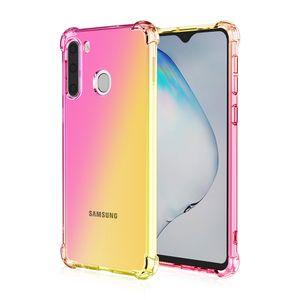 Gradient weichen Silikon-Hülle für Samsung Galaxy S11E S11 Plus-S10E S10 Plus-S8 S9 Plus-Abdeckung Capa