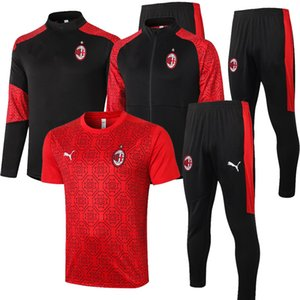 2020 2021 AC PIATEK KAKA Soccer training suit jacket survetement 20 21 maillot de foot IBRAHIMOVIC mIlan football Tracksuit