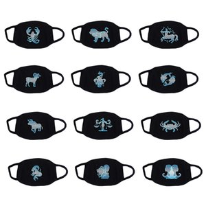 New Creative Constellation Mask Breathable Cotton Anti Dust Smog Face Mouth Masks 12 Zodiac Signs Protective Mouth Mask