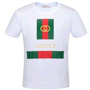 Moda Mens Gucci Camiseta Verão t shirt de alta qualidade Mens Stylist shirt Hip Hop Homens Mulheres manga curta preta Tees Tamanho S-6X