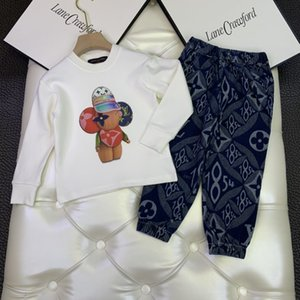 kids clothing sets kids clothes boys girls tops shirts sweaters sweatshirt pants trousers children 2pcs sets C955