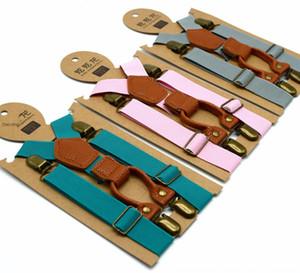 XN3og couleur Sling Sling solide pour enfants de haute qualité élastique 4 jarretelle pince jarretelle bébé clip pantalon suspendus