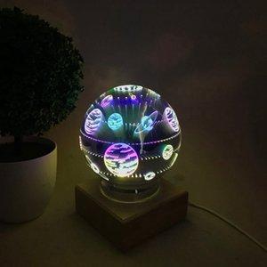 Magic Ball красочный стеклянный шар лампа 3d Starry Sky Star Butterfly Night свет дети Спальня украшение рождественские подарки море корабль GGA3711