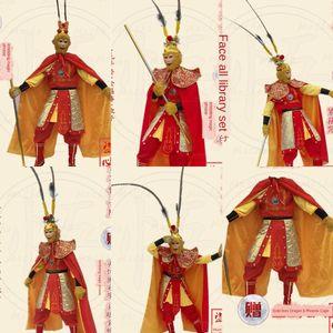 xAlxF 일 Wukong 서쪽 소품 의상 의류 의상 Sheng의 원숭이 왕 웨스트 버지니아 티안 다 성인 정장 여행 라이브 무대 performan 소품 의류