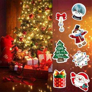 Xmas подарочные Наклейки для бутылки с водой Водонепроницаемый рождественские наклейки для ноутбуков Камера велосипедов Декаль граффити Патчи 50шт / комплект OOA9070
