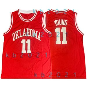 NCAA Trae 11 Giovane Jersey Oklahoma Sooners Collegio 50 David Robinson Ray Allen 34 LeBron James 23 Stephen Curry 30 Basketball Maglie