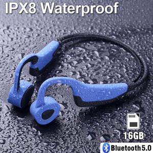 K7 Wireless Bluetooth Earphone IP68 Waterproof MP3 Player Swimming Running Headset Sport Earbuds 16GB RAM Speaker Bone Conduction Headphones