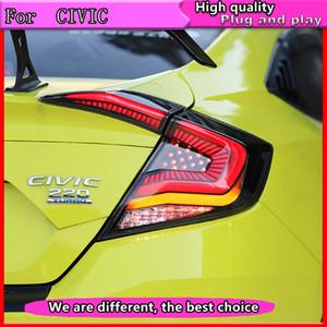 Stop lambaları için Honda Civic 10th 2016 2017 2018 sedan stil Araç lamba praking Taillight Arka Fren Kuyruk Işık durak açtı