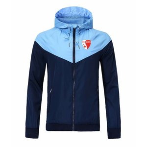 2020 FC Sion camisola Hoodie Men Jacket Brasão Com Logo Autumn Sports Zipper Windcheater Designer Mens Clothe manga comprida