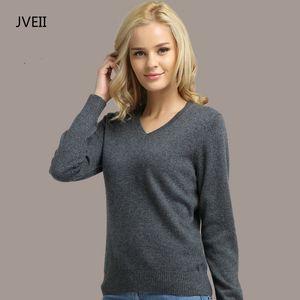JVEII Frauen Pullover Strick Weiblich Langarm V-Ausschnitt Kaschmir-Pullover und Pullover weiblich Herbst-Winter-dünne Pullover Beiläufige 200918