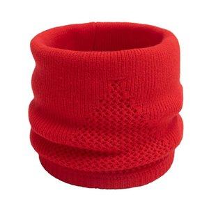 Automne et Hiver chaud Collier creux solide Couleur extérieure Collier Faux Boucle simple Tricoté Face Mask Woollen