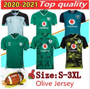 2020 2021 Irlanda de rugby Jerseys 2019 Ireland equipe nacional de rugby casa Tribunal Longe retro League Rugby camisa POLO colete S-3XL