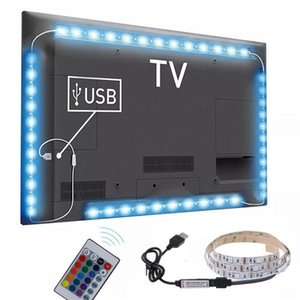 Hot 3 Sizes RGB LED Wireless Remote Control Neon Interior Light Lamp Strip Lights Car Decor