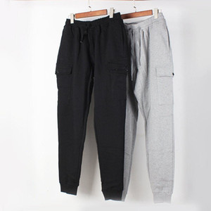 Mens Stylist Track Pant Sweatpants Casual Style Mens Black Grey Joggers Pants Track Pants Cargo Pant Trousers Beam foot trousers