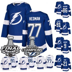 Victor Hedman Tampa Bay Lightning 2020 Stanley Cup Final Champions Nikita Kucherov Steven Stamkos Vasilevski Punto Johnson Jersey Instock
