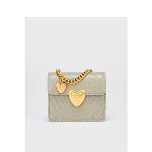 Charm2019 Genuine Leather Bag Amor Spiraea Mini- Diamante Malha Cadeia Ombro Único Mulher Package