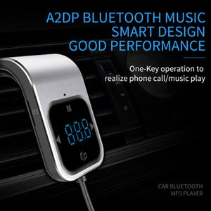 Car Bluetooth With Transmitter Handsfree Dual Besegad Aux Usb Player Fm Wirless Radio Mp3 Charger Adapter Vehicle Car Charging VzKbg