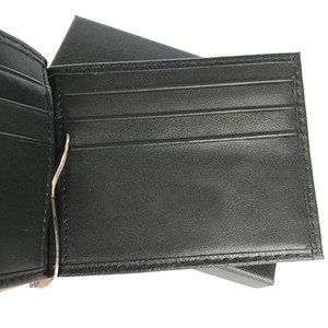 High-quality Wallets Cash Leather Fashion Short Cardholders Business Party Wallets Clips Business Bags Cases Men's Purse Card Bquio