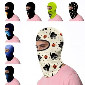 DHL Shipping Halloween Face Mask Multifunction Neck Gaiter UV Protection Scarf Cycling Breathable Bandana Party Head Cover for Riding L595FA