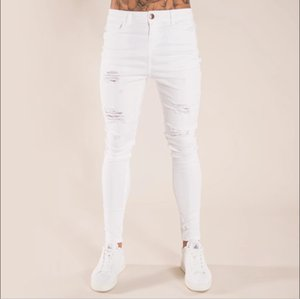 2020 New Men's Jeans Casual Hole Stretch Jeans Skinny Jeans Pants for Male