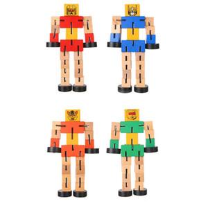 Transformação crianças robô Building Blocks Brinquedos de madeira para crianças Autobot figura modelo enigma Aprender Inteligência Brinquedos