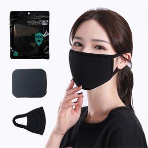 Máscara de algodão preto Moda clássica Face Máscaras Lavável Máscara de pano de poeira Reusável para homem Mulher Products Products