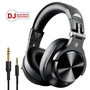 OneOdio Fusion Üzeri Kulak Bluetooth Kulaklık Profesyonel Stüdyo Kaydı Monitör Kablolu DJ Kulaklık Kablosuz Kulaklık ile Mikrofon