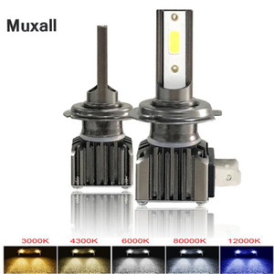 2pcs LED Canbus Mini Car Headlight H4 H1 H7 H11 H8 H9 9005 Car Front Bulb Super Bright White Beam 6000K 12V Fog Light Kit