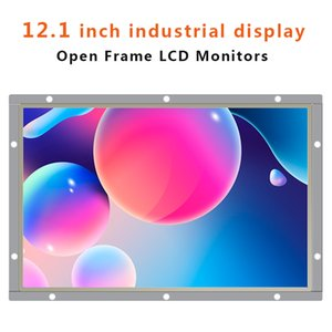 12.1 Inch IPS Full View Widescreen Industrial Monitor Not Touch Screen Computer Display Open Frame 1280*800
