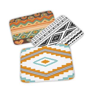 Vintage Geometry Modern Anti-Slip Line Lattice Printing Decoration Doormat Outdoor Kitchen Stairs Bathroom Print Soft Mat Rug