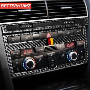 아우디 A6 C5 C6 자동차 인테리어 액세서리 탄소 섬유 스티커 에어컨 CD 제어판 차 스티커 및 데칼