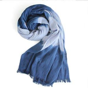 100% Baumwolle Krawatte Farbstoff Unisex Schals Schal Frauen Kopf Wraps Mode Muslim Hijabs Headscarf Reise Sonnencreme Herbst 185x70cm