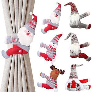 15 스타일 크리스마스 커튼 버클 Tieback 산타 눈사람 커튼 Tiebacks 홀드 백 지퍼 버클 클램프 장식 크리스마스 장식품