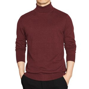 Slim Sweaters Men Pullover Basic Solid Turtle-Neck Sweater Male Winter Warm Turtleneck Thermal Underwear Knitwear Man Plus Size