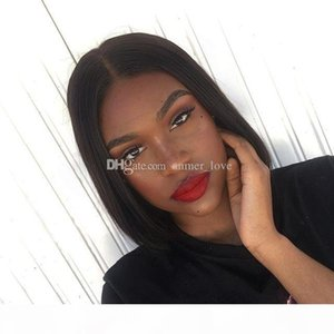 Free Shipping Short Bob Wigs Brazilian Virgin Hair Straight Lace Front Human Hair Wigs For Black Women Swiss Lace Frontal Wig