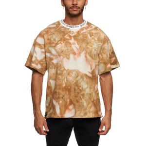 Blank Cotton Breathable Fashion T-Shirts Wear Geometric Printing Short Sleeve T Shirt for Men