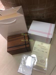 Mode Carré blanc de boîte en bois avec sac fourre-tout certificat portugieser cadeau pour hommes Mesdames CHRONOGRAPHE Boîtes originale montre