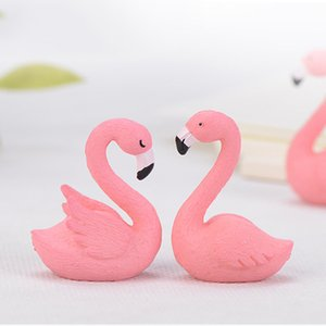 miniature fairy garden flamingo figurines home desk decoration accessories for living room artificial birds animal figurine