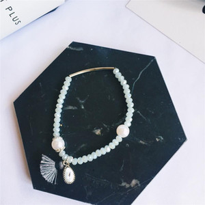 Bohemian Pink Natural Stone Crystal Charm Bracelets & Bangles for Women Beads Handmade Charm Bracelet Boho Tassel Jewelry B73